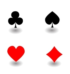 Playing Card Suit Icon Symbol vector image