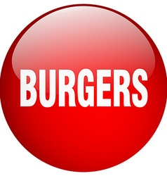 Burgers red round gel isolated push button vector