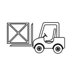 Freight car with box on side vier graphic vector