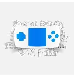 Drawing business formulas joystick vector