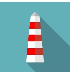 Lighthouse icon in flat style vector