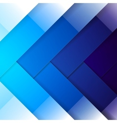 Abstract blue shining rectangle shapes background vector image