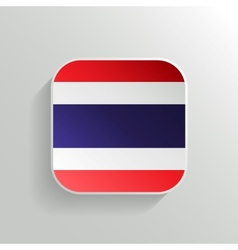 Button - Thailand Flag Icon vector image vector image