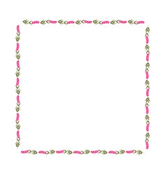 decorative square frame floral vector image