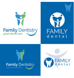 Dental care logo vector