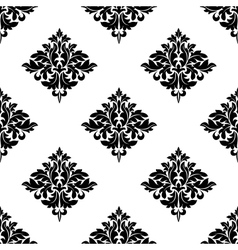 Diamond shaped seamless arabesque pattern vector image