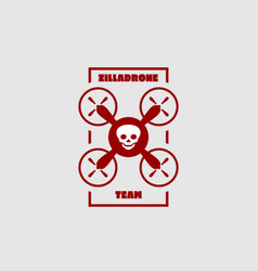 Drone quadrocopter icon emblem vector