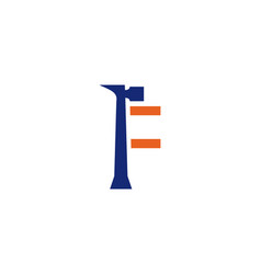 F letter repair logo vector