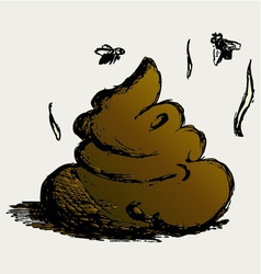 Feces cartoon vector image vector image