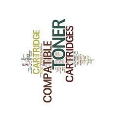 Five myths about compatible toner cartridges text vector
