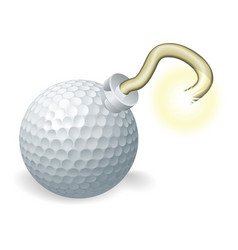 golf ball bomb concept vector image vector image