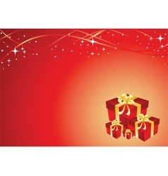 Greeting card with gift box vector image vector image