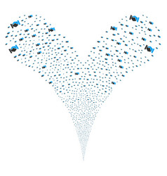 Handshake fountain stream vector