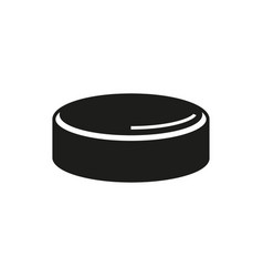 Hockey puck isolated on white background vector