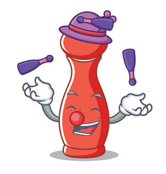 Juggling pepper mill character cartoon vector