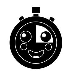 Kawaii chronometer speed timer cartoon character vector