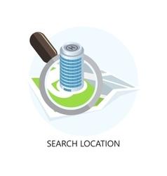 Location Icon Search Concept Flat Design vector image vector image
