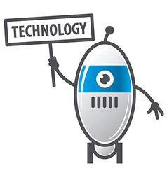 Logo robot sign technology vector