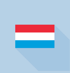 luxembourg flag flat design with officia vector image vector image