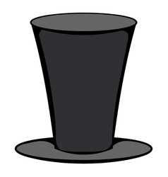 Male black cylinder icon cartoon vector