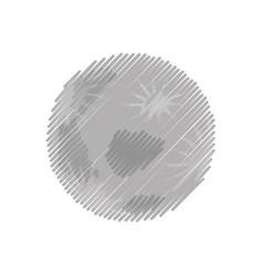 Moon nature satellite vector