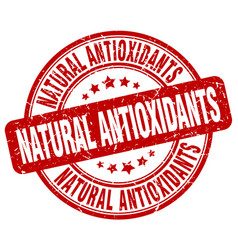 Natural antioxidants stamp vector