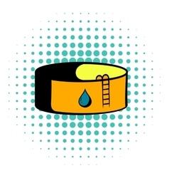 Oil tank storage icon comics style vector