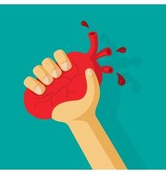 Original declaration of love heart is in an arm vector