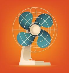 Retro Fan Icon vector image