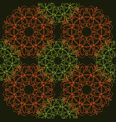 seamless pattern of simple mandalas vector image vector image