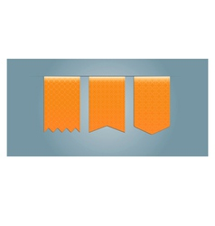 Set of web ribbons with pattern vector image