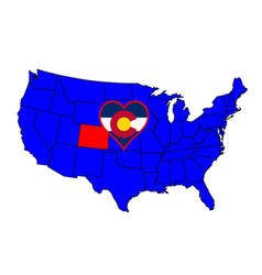 state of colorado vector image