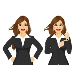 Two angry businesswomen vector