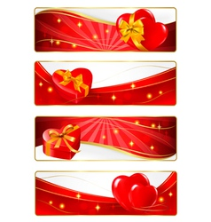 valentine day banners vector image