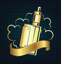 vape shop symbol vector image vector image