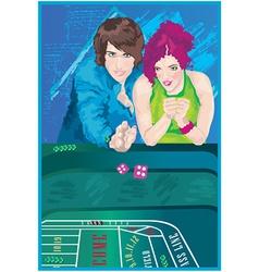 Woman at casino vector image vector image