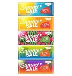 Summer sale end of season banner business vector
