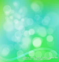 Green bokeh vector
