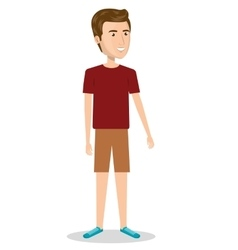 Man character with casual dress vector
