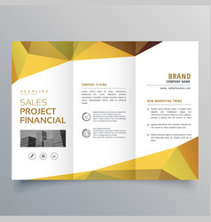 trifold brochure design with abstract geometric vector image