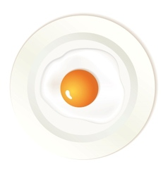 Scrambled egg on plate vector