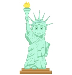 Liberty statue cartoon vector