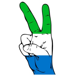 Peace sign of the sierra leone flag vector