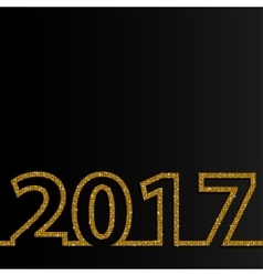 2017 glittering gold sequins numbers vector