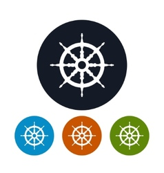 Ship wheel icon vector