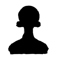 Silhouette of pawn vector