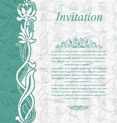 Vintage background for the invitation with flowers vector