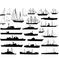 boats vector image