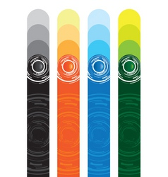 Abstract button banners vector