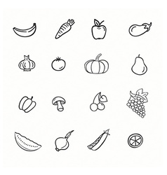 set of vegetable vector image